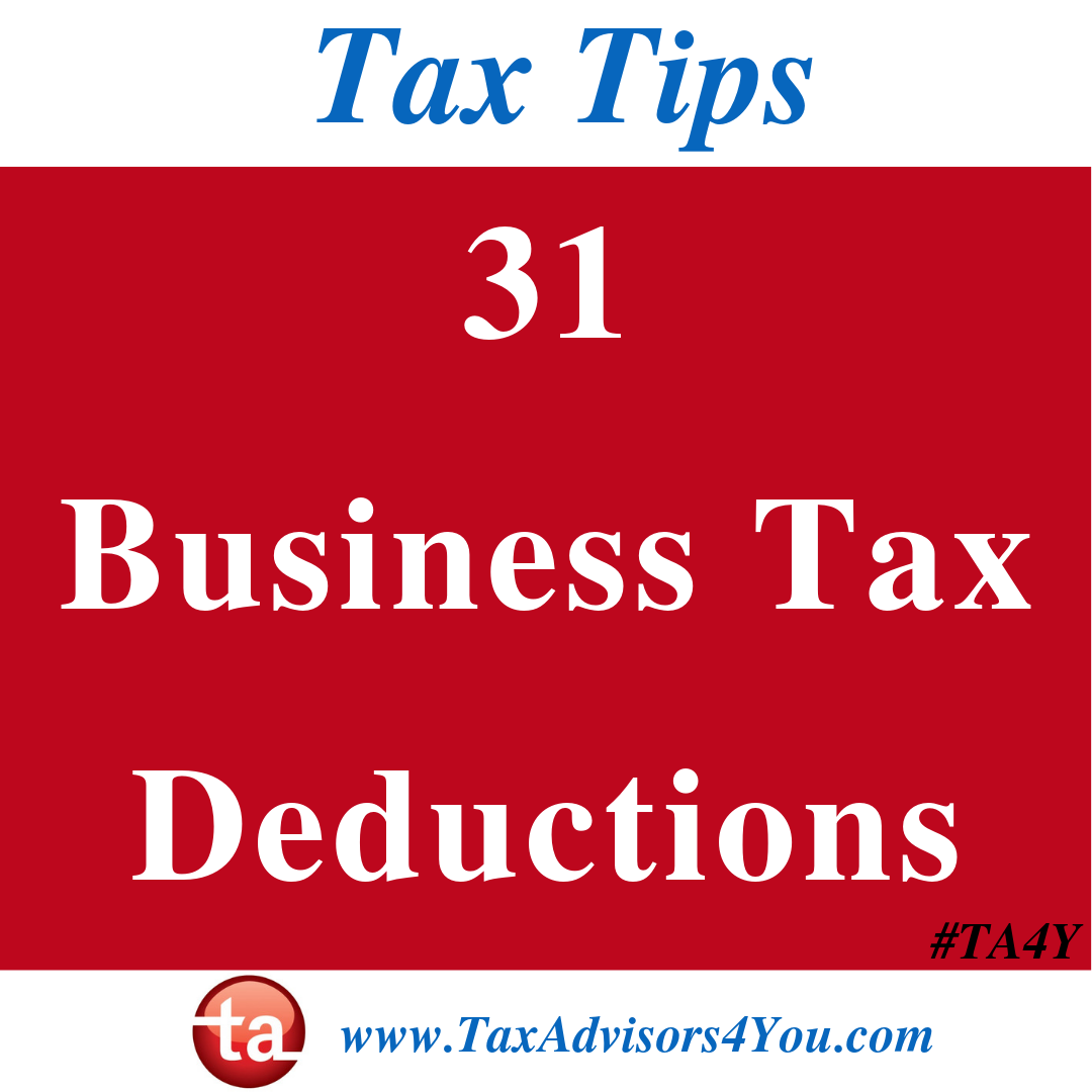 31 Business Tax Deductions